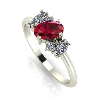 Atlantis: Ruby & Diamonds - White Gold
