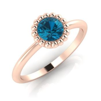 Alto, Rose Gold and London Blue Topaz