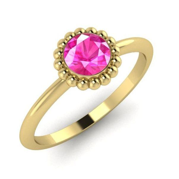 Alto, Yellow Gold and Pink Sapphire