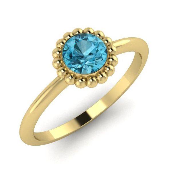 Alto, Yellow Gold and Blue Zircon