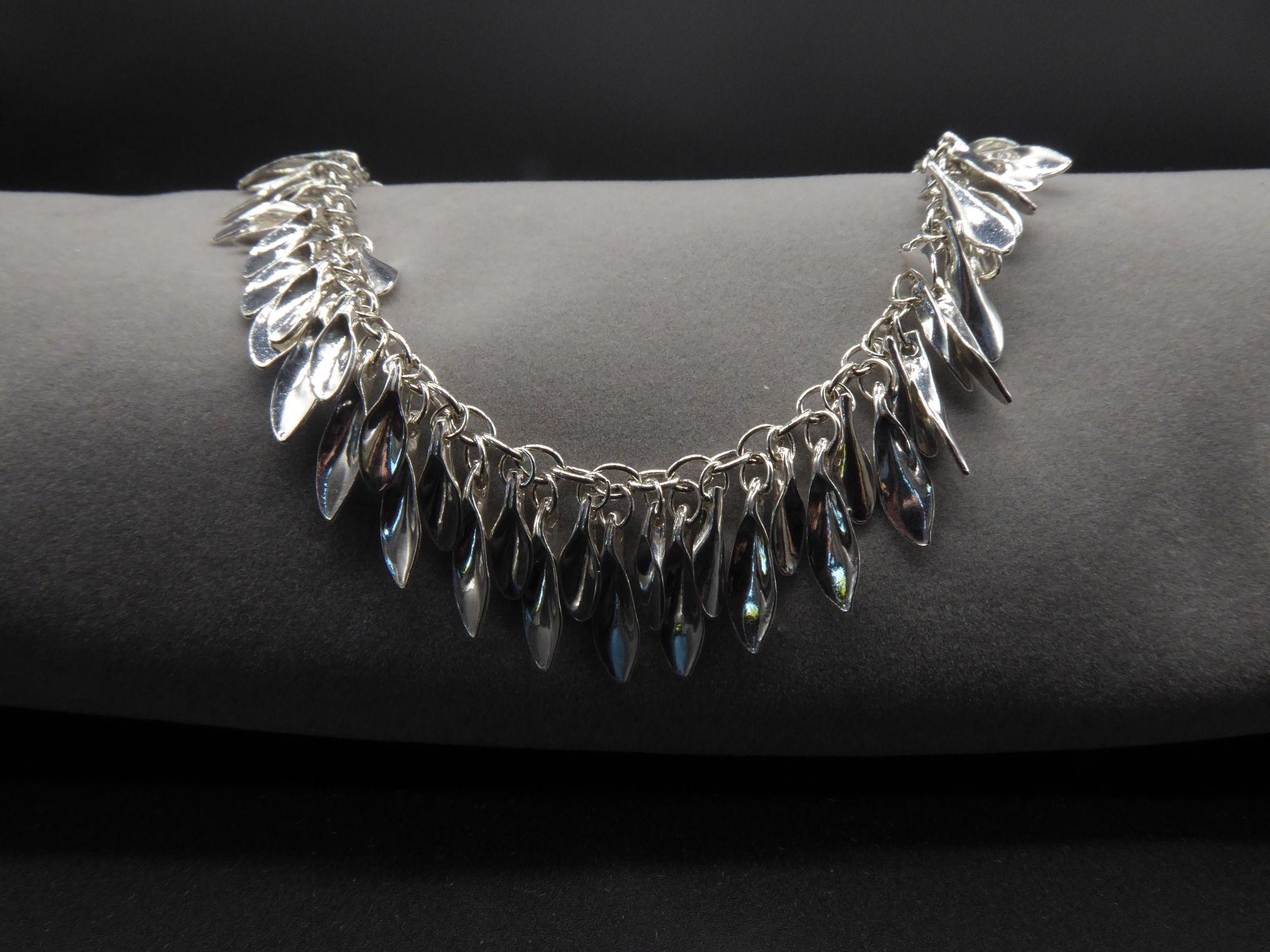 shimmer leaf bracelet