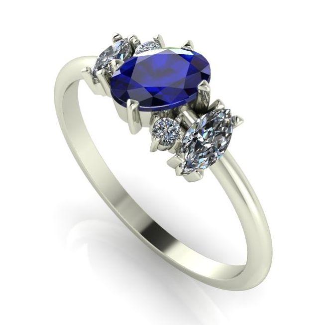 Atlantis Sapphire, Diamond & White Gold