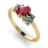 Atlantis Ruby & Diamond: Yellow Gold
