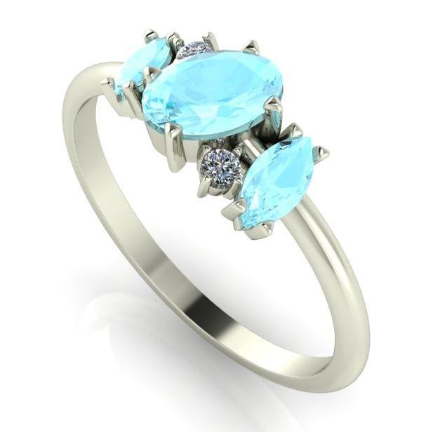 Atlantis: Aquamarine & Diamonds