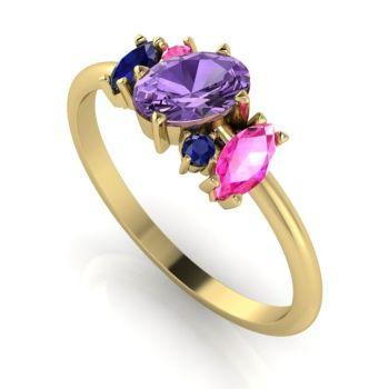 Atlantis Violet Sapphire Cluster Ring