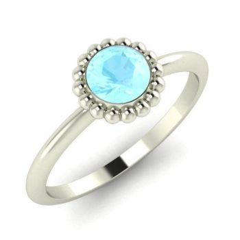 Alto, White Gold & Aquamarine