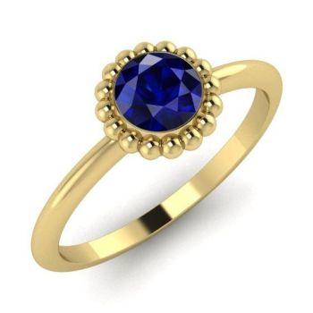 Alto Blue Sapphire & Yellow Gold