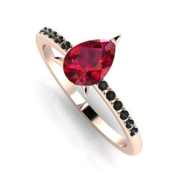 Calista: Red & Black - Rose Gold