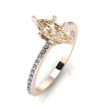 Amoret: Rose Gold & Champagne Diamond