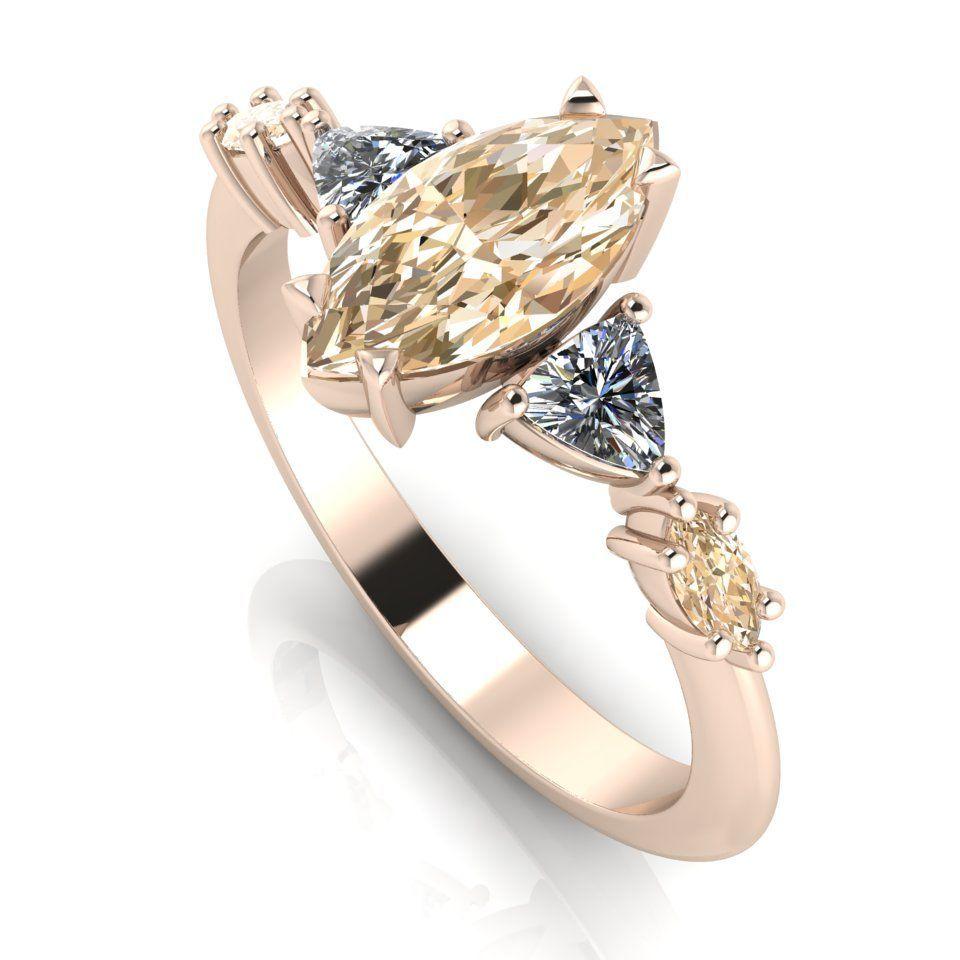 Maisie Marquise: Champagne Diamond, Diamonds & Rose Gold