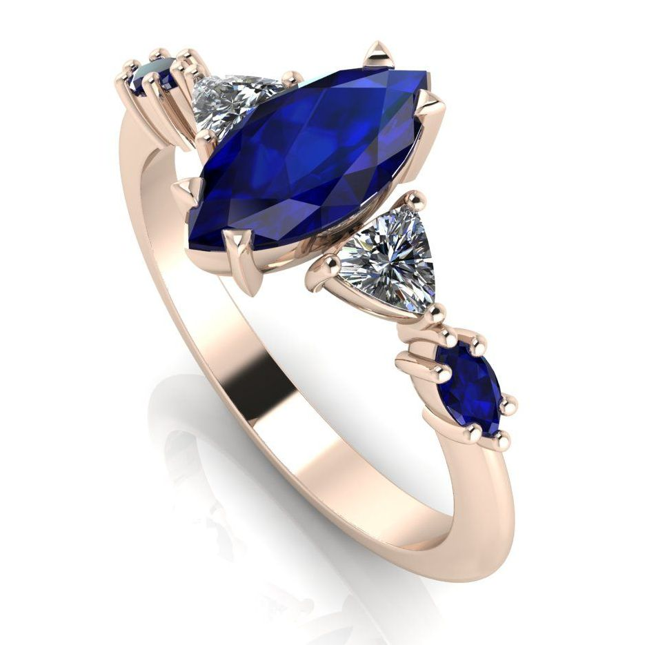 Maisie Marquise: Sapphire & Diamonds