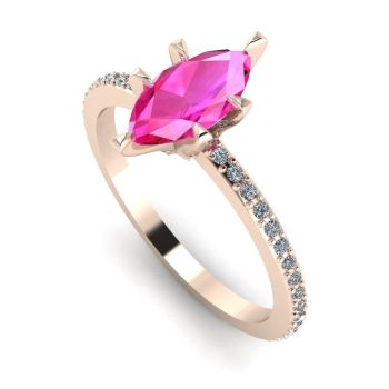 Amoret: Rose Gold, Pink Sapphire & Diamonds