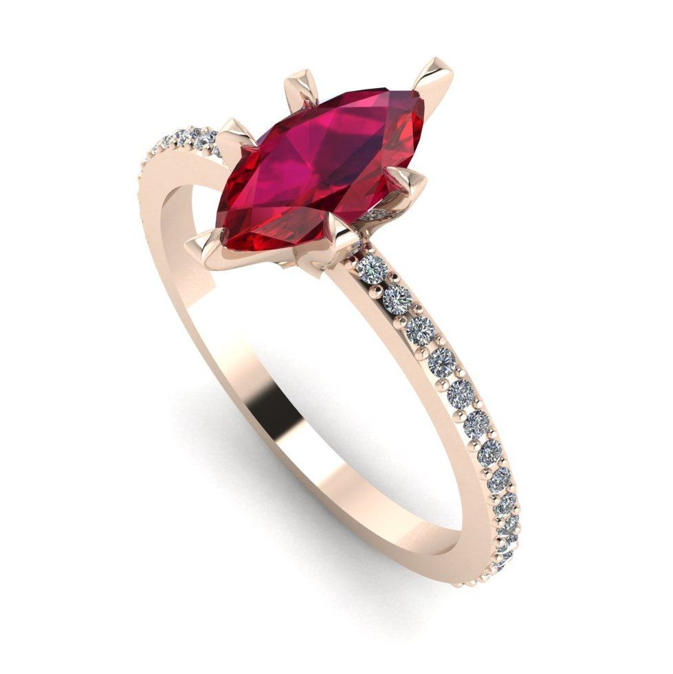 Amoret: Rose Gold, Ruby & White Diamonds