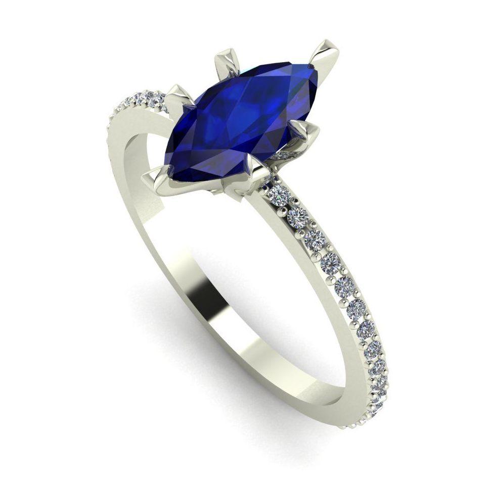 Amoret: Blue Sapphire & White Diamonds