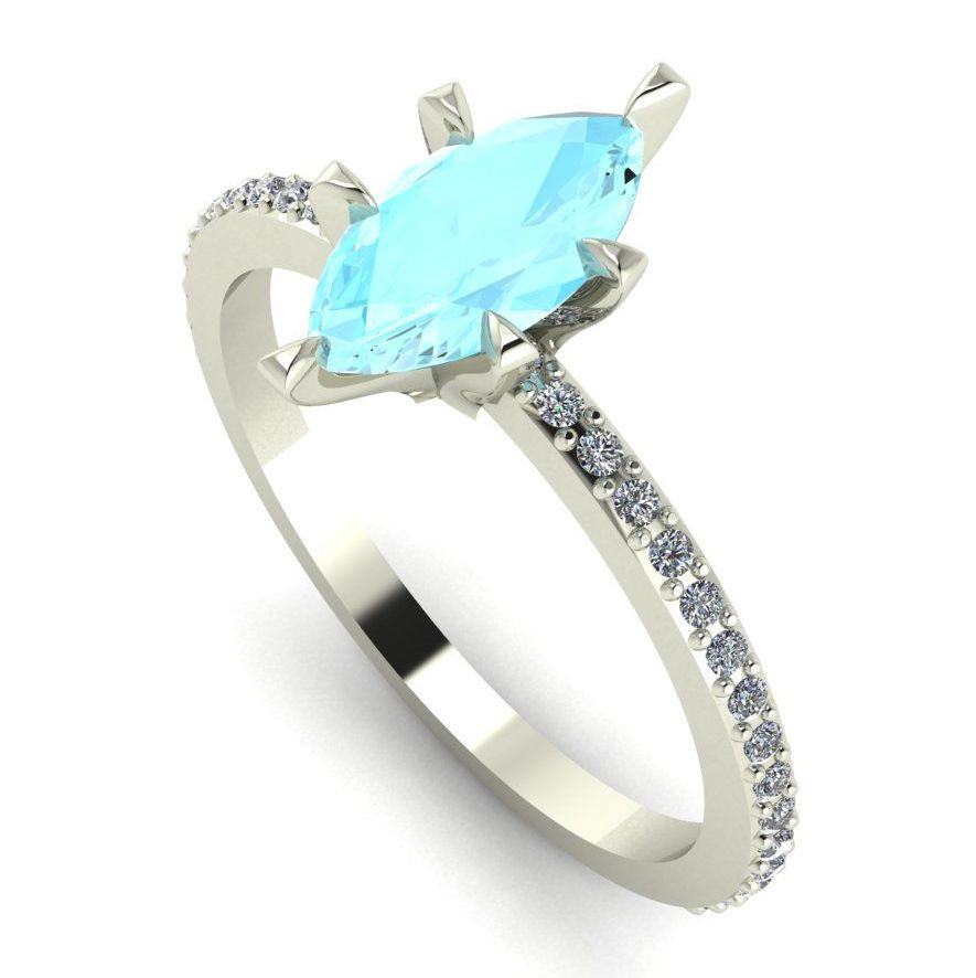 Amoret: Aquamarine & Diamonds