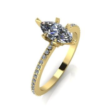 Amoret: Diamonds & Yellow Gold