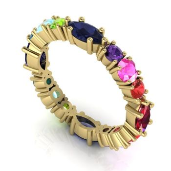 Allsorts - Multi Coloured Gemstone Eternity Ring