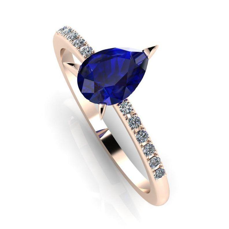Calista: Sapphire & Diamond Engagement Ring