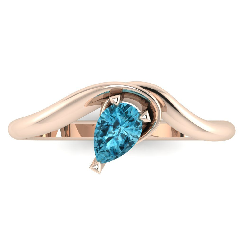 Enchanted: Blue Zircon & Rose Gold
