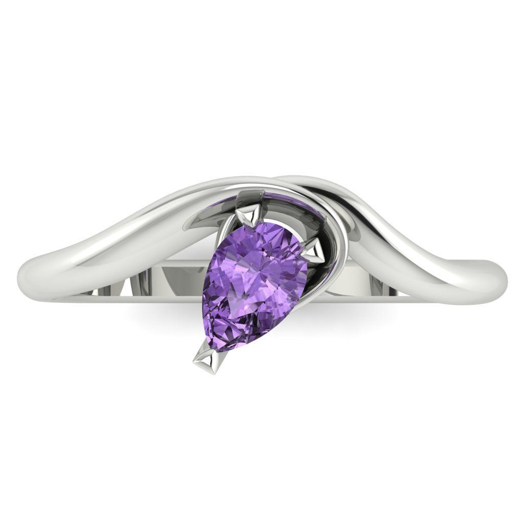 Enchanted: Violet Sapphire & White Gold