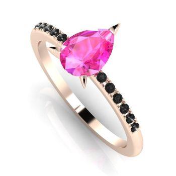 Calista: Rose Gold, Pink Sapphire & Black Diamonds