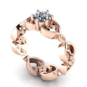 Flowers on the Vine: Rose Gold & Diamond
