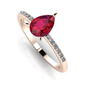 Calista: Ruby & Diamond - Rose Gold