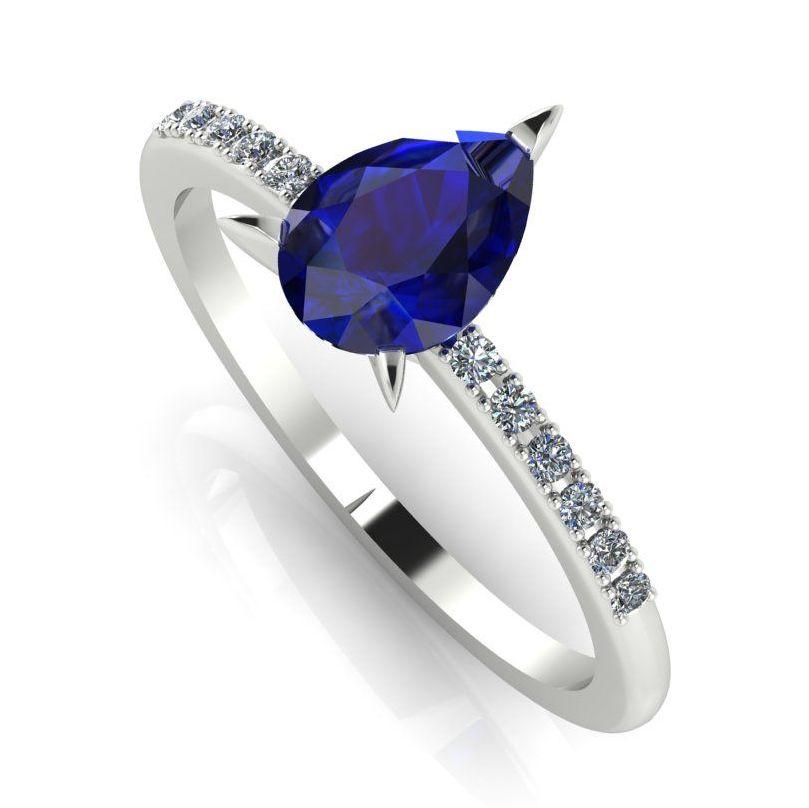 Calista: Sapphire & Diamond - White Gold