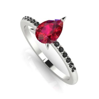 Calista: Red & Black - White Gold