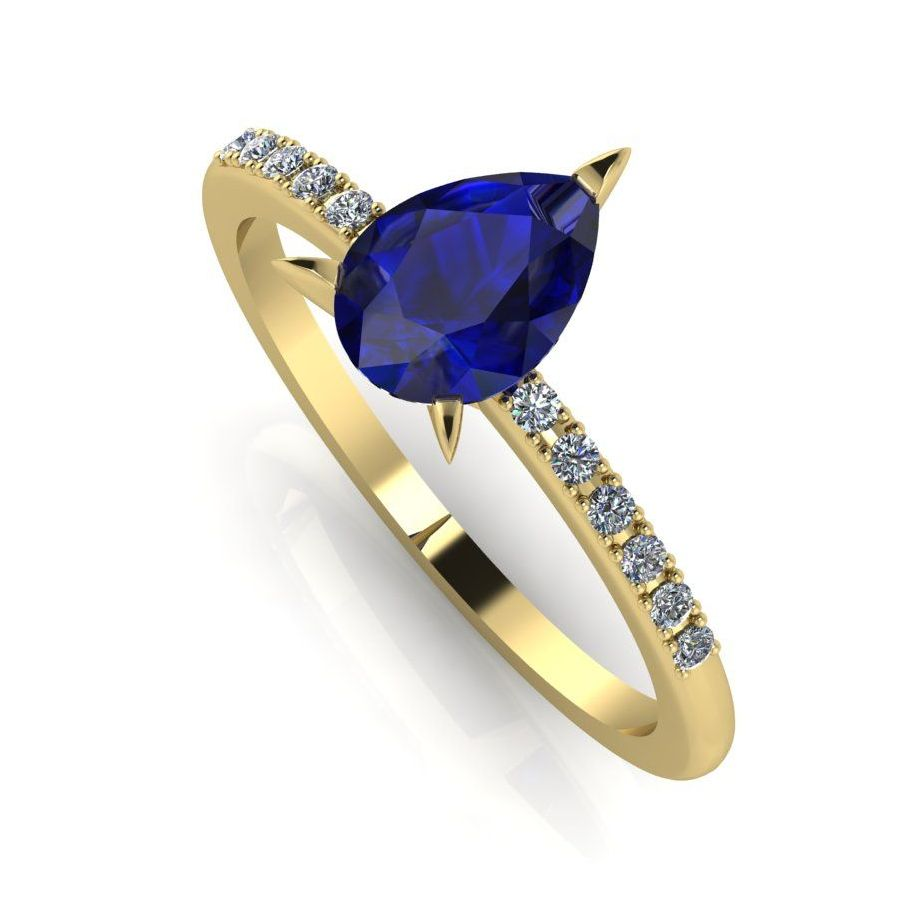 Calista: Sapphire & Diamond - Yellow Gold