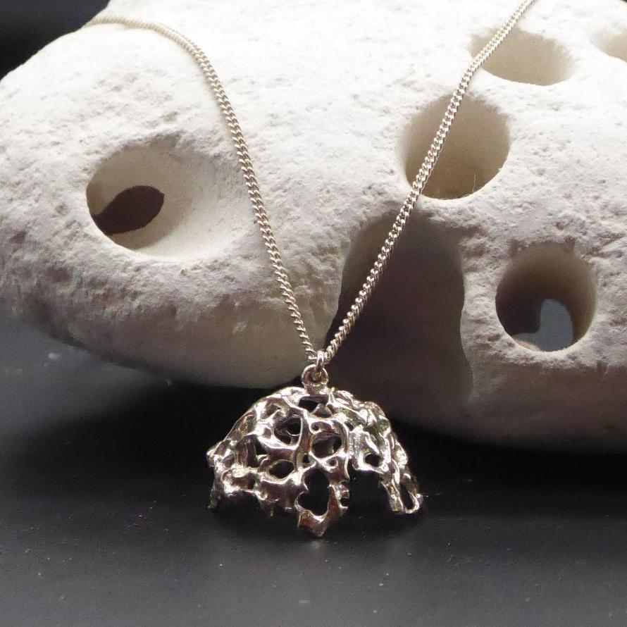 Silver web pendant