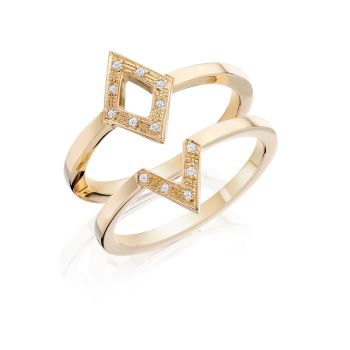 Geo Diamond V Ring