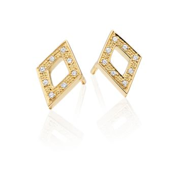 Geo Diamond Earrings