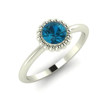 Alto, White Gold and London Blue Topaz