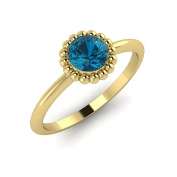 Alto, Yellow Gold and London Blue Topaz Ring