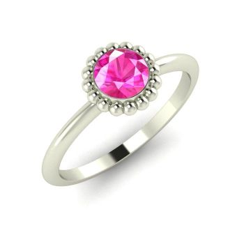 Alto, White Gold and Pink Sapphire Ring