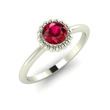 Alto, White Gold and Ruby Ring