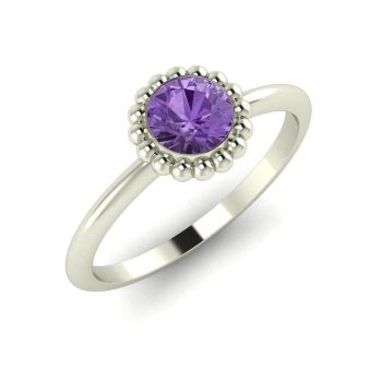 Alto, White Gold and Violet Sapphire Ring