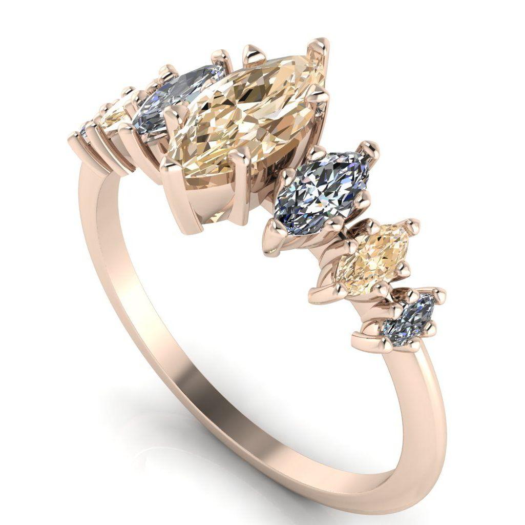 Harlequin - Champagne Diamond, Diamonds & Rose Gold