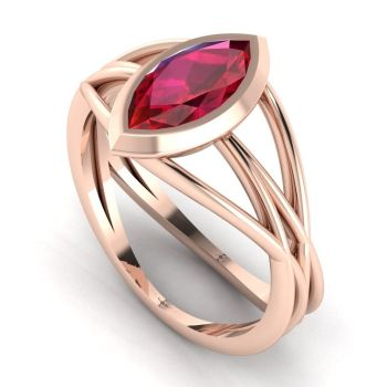 Infinity - Ruby - Rose Gold