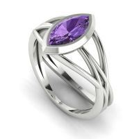 Infinity - Violet Sapphire - White Gold