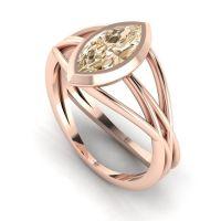 Infinity - Champagne Diamond- Rose Gold