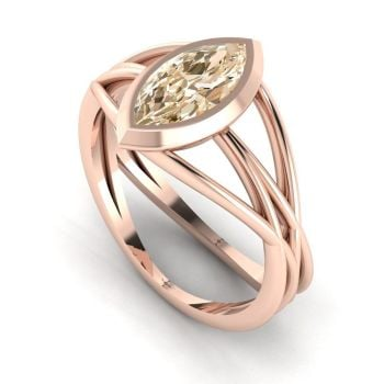 Infinity - Champagne Diamond- Rose Gold