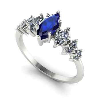 Harlequin - Sapphires , Diamonds & White Gold