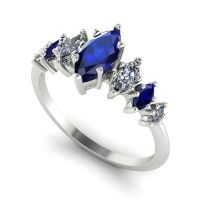 Harlequin - Sapphires , Diamond & White Gold