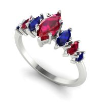 Harlequin - Rubies , Sapphires & White Gold