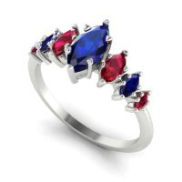 Harlequin - Sapphires , Rubies & White Gold