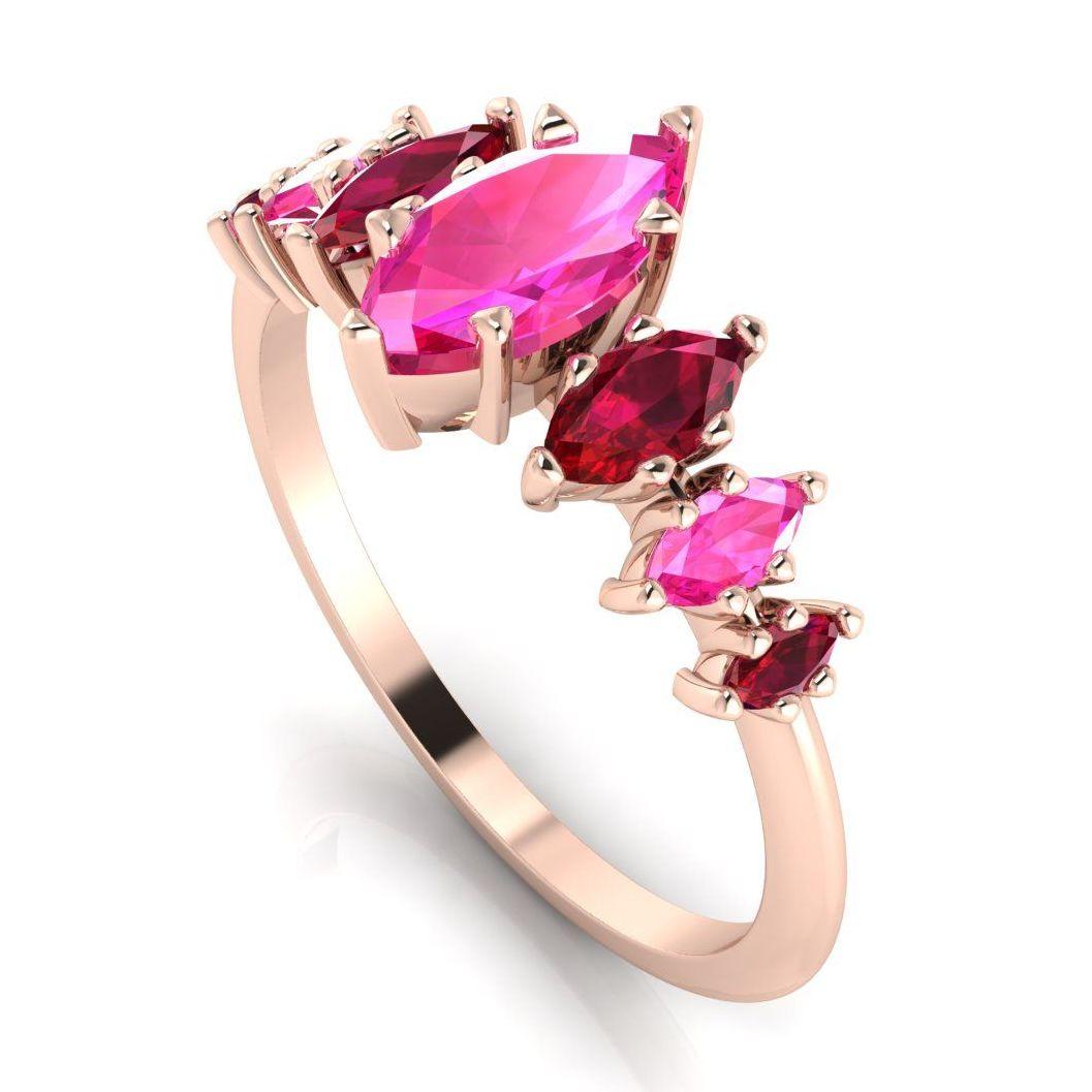 Harlequin - Pink Sapphires, Rubies & Rose Gold