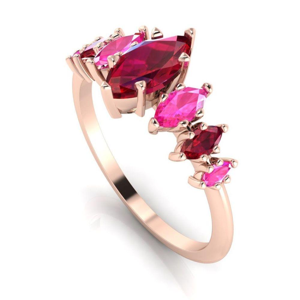 Harlequin - Rubies, Pink Sapphires & Rose Gold