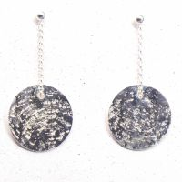 Glitter Ball Silver Earrings (small)